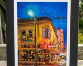 Twin Peaks Tavern, Castro San Francisco bar - matted print signed by artist