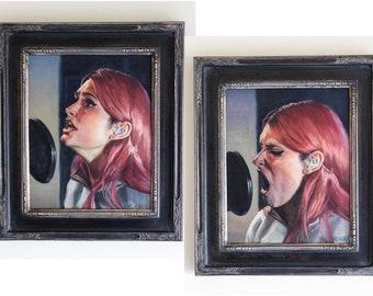 "Spiritbox - ""Rule of Nines"" pair of original oil paintings, 10 x 8 inches, 2020."
