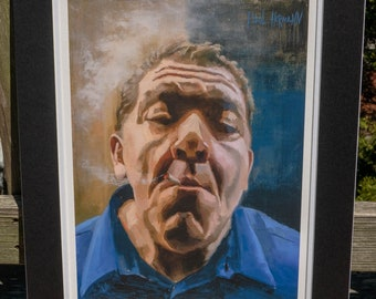 """Joey Diaz - """"The Morning Joint"""" matted print signed by artist"""