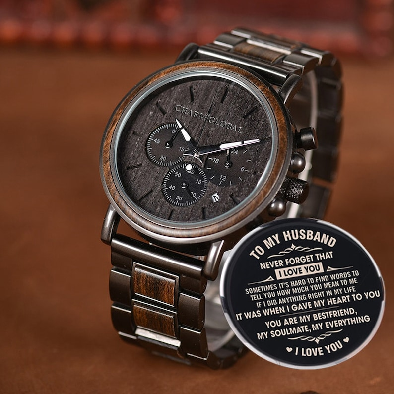ceb4b86a41ff8 Wedding Gifts Engraved Wooden Watches For Men Gifts For Dad