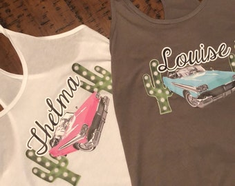 a198cf1e Thelma and Louise tank womens L set