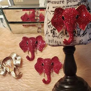 Elephant Jewelry Elephant Lover Gift Elephant Jewelry Red or Purple or Green or Blue Elephant Brooch Elephant Gift Elephant Pin