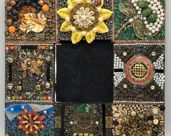 Jeweled Mosaic Canvas On Point