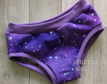 Age 4 - 5 Years Children's Underwear - Purple Star Galaxy Briefs, Kids Knickers for Boys and Girls, Speedy Pants