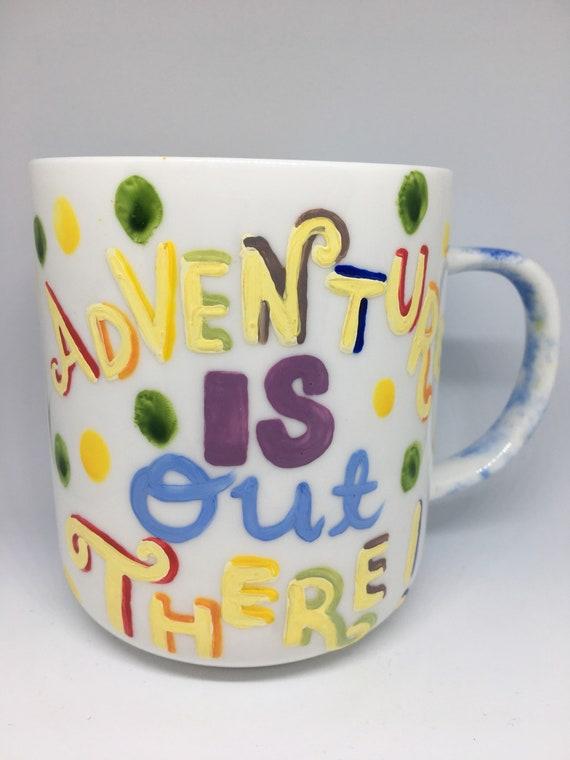 Adventure Coffee Tea Handpainted MugPixar Up Inspired MugMugsBirthday Disney GiftPresentDugDogKevin wOPnkN08X