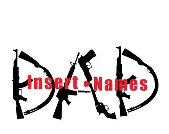 Gun Dad SVG