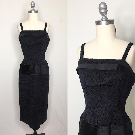 Vintage 50s 60s Suzy Perette Lace Cocktail Dress S