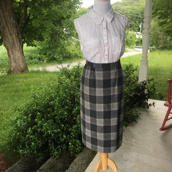 7530cd9019a15 Vintage 80s Pendleton Plaid Wool Skirt Pencil Midi Length | Etsy