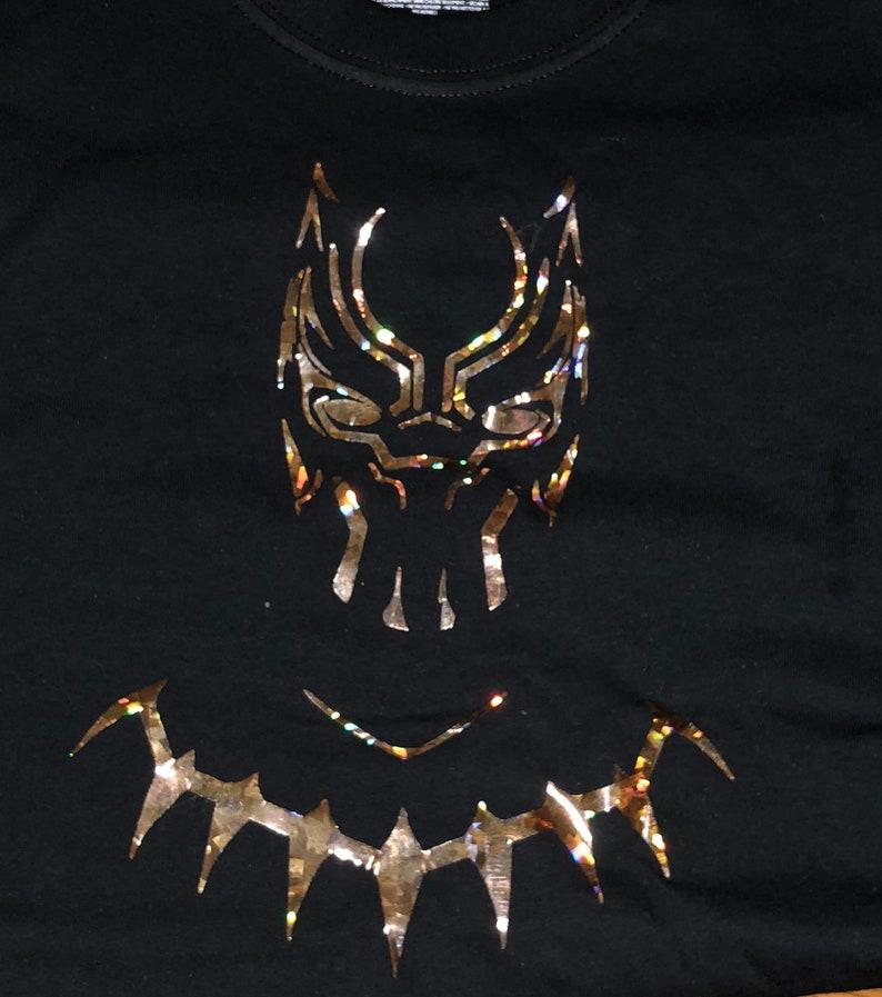 956e840f Black Panther Holographic Vinyl Super Hero Wakanda | Etsy