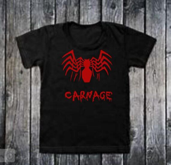 Mens,Womens Kids SPIDERMAN VENOM CARNAGE  T-shirt FREE UK POST