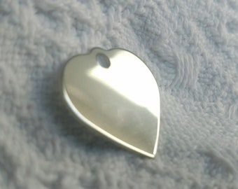 Your chrome plated heart brooch