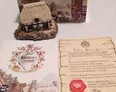 Boxed Lilliput Lane Cottages Riverview 1987 English Collection Midlands with Book, Deed and original box MIB