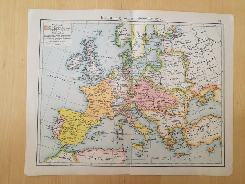 Map Of Germany 1815.Original Vintage Map Of Germany 1815 To 1866 And Italy 1815 Etsy