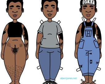 Queer Paper Dolls - Soft Butch Edition!