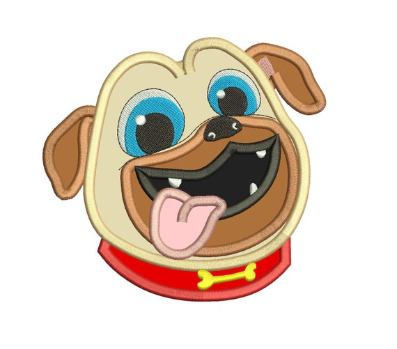Rolly Face Puppy Dog Pals Applique Design Instant Download Etsy