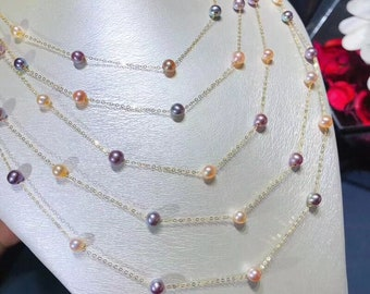 Starry Starry Night Fresh Water Pearl Necklace