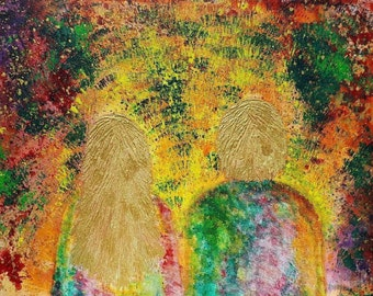 Return to Paradise - original acrylic painting on canvas, signed