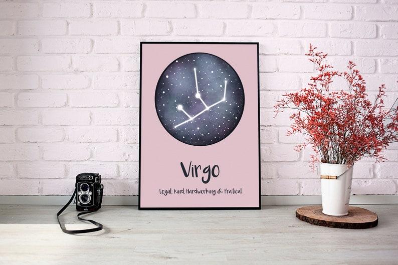 Virgo Constellation Stars Purse Hanger with Keychain