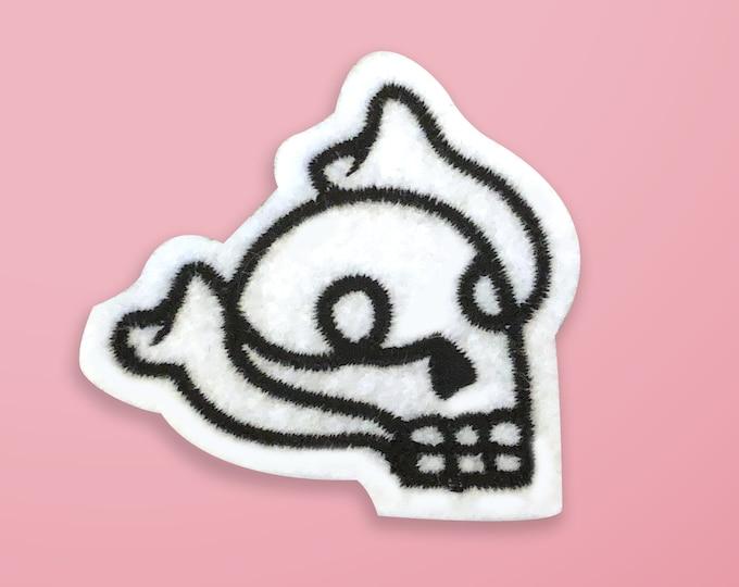 Baby Skull Felt Patch