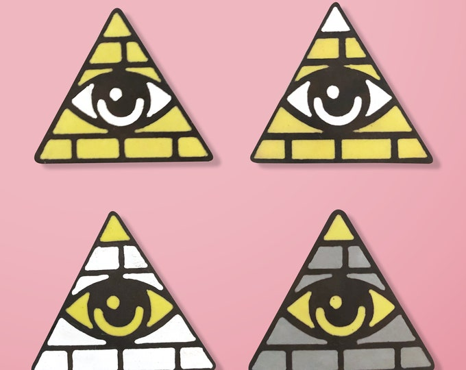 Pyramid Handmade Enamel Pin
