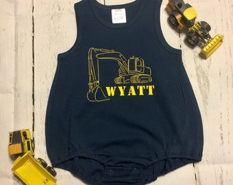 Excavator Bubble or T-shirt