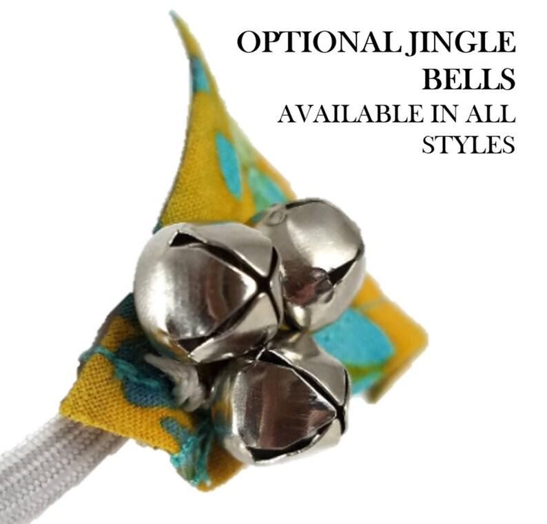 Small Pet Bandana w Bells in Custom Fit and Collar Slip Options w Pink Butterfly Print Ferret Bandana