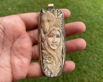 Woman S Carved Face Etsy