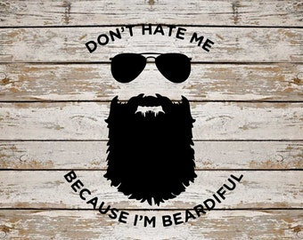 Beard SVG Bundle, Beardiful SVG Bundle, Beard cut file, Beard clipart, svg files for silhouette, files for cricut, svg, dxf, eps, png, scal