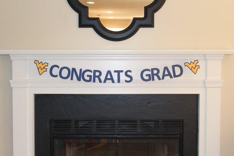 West Virginia University Graduation Decorations WVU