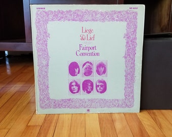 Fairport Convention - Leige And Lief Record  Album Vintage Rock Records Vinyl Record 1969 1960s Folk Rock LP