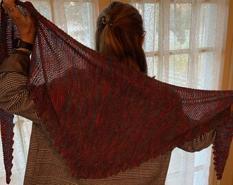 Zig Zag Knitted Shawl (Pattern)