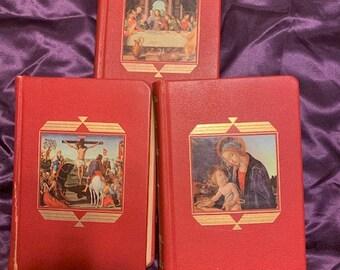 Catholic Missal, Life of Christ and Prayer Book from Catholic Press 1954 1955 Midcentury