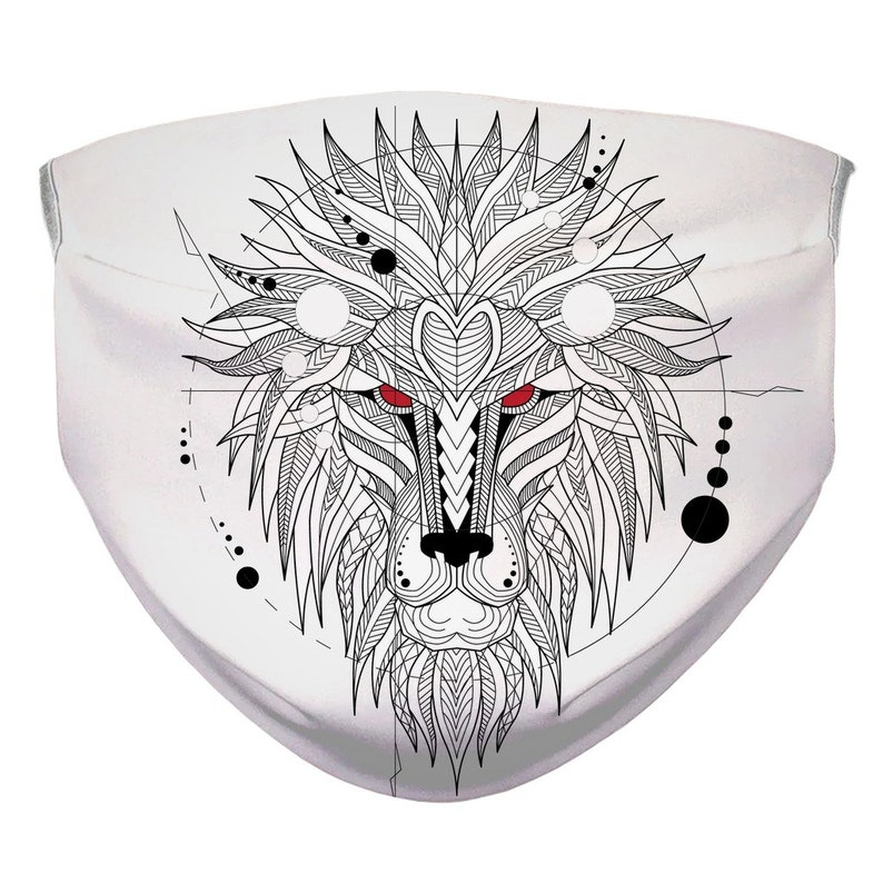 Sublimation Face Mask Lion Face Mask/Animal/Mask/Mouth Nose image 0