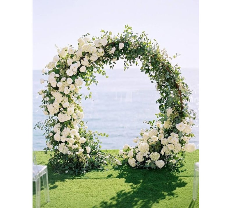 Outdoor Wedding Arch: Passable Metal Arch Metal Round Wedding Arch Moon For
