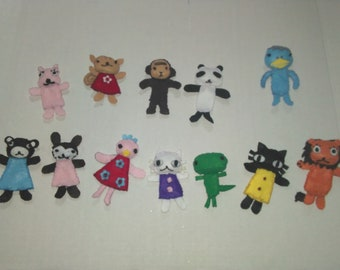 Animal plushie/ finger puppets