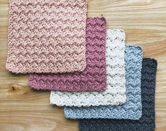 Washcloths - Set Of 5 Crochet Washcloths