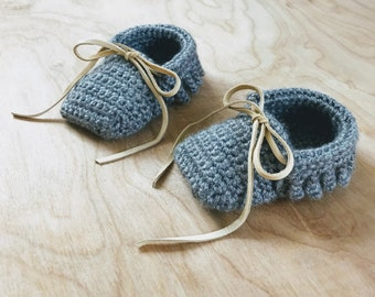 Baby Moccasins - Crochet Moccasin, Baby Booties