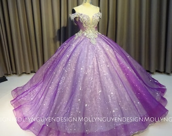 5bec9108512 Sparkly Purple Gown