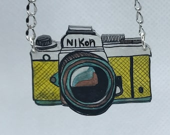 Necklace with camera Pendant
