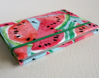 Watermelon Party Travel Art Design Custom Passport Holder Lover Passport Cover Travel Set Bag Tag Luggage Tag Document Protector CL6286