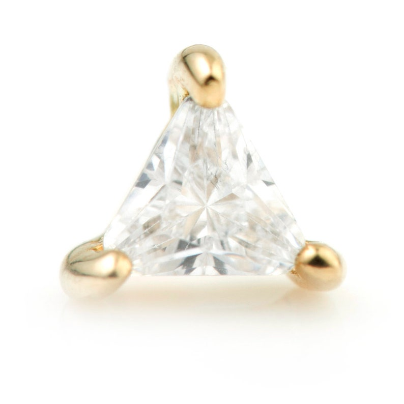 solid gold 9ct gold microbar 14ct gold triangle stud jewelry body jewellery cartilage bar triangle earring conch piercing
