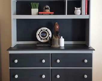 Painted Dresser with Shelving
