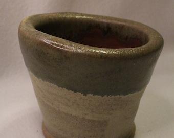 Ceramic Beige and Rust Planter