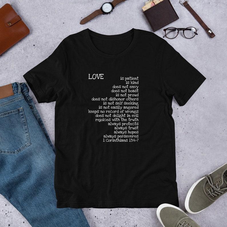 83a064c5 Love is...Short-Sleeve Unisex T-Shirt 1 Corinthians | Etsy