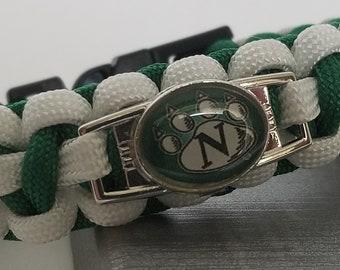 Northwest Bearcats Paracord Bracelet