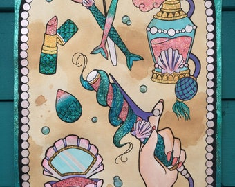 Glitter Mermaid Accessories design