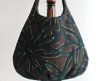 Brown Green Blue shoulder bag never go without for shopping in Paris big bag spacious pocket bag handbag shopping bag bag