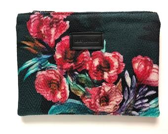 Floral motif clutch never go without for dinner in Florence handbag evening bag flowerprint bag handbag handmade handmade
