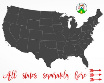 Silhouette map etsy sale usa map svg cut files state cricut files california svg new york silhouette texas usa map clipart files svg dxf png st16 publicscrutiny Choice Image