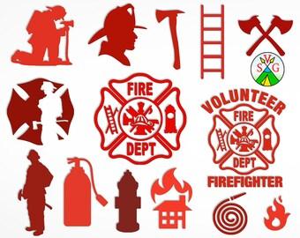 firefighter svg etsy